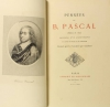 PASCAL (Blaise). Pensées de B. Pascal (Edition de 1670). Précédées d'un avant-propos et suivies de notes et de variantes
