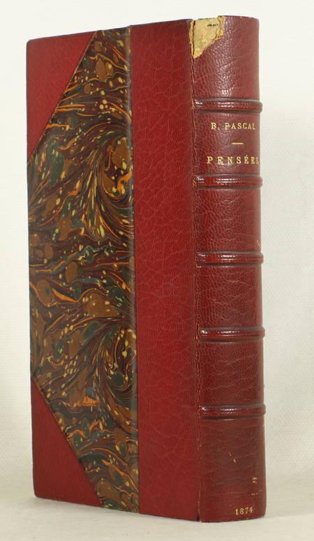 PASCAL - Pensées de B. Pascal (Edition de 1670) - 1874 - Photo 1 - livre d'occasion