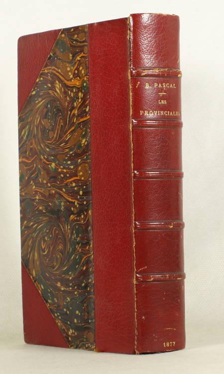 PASCAL - Les provinciales (Texte de 1656-57) - 1877 - Photo 1 - livre de bibliophilie