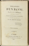 ARNAULT Les loisirs d un banni, par A.-V. Arnault, ancien membre de Pièces 1823 - Photo 1, livre rare du XIXe siècle