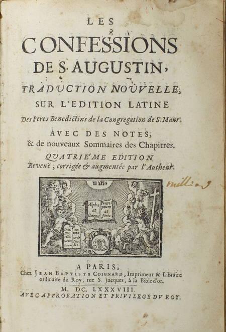 Les confessions de S. Augustin, traduction nouvelle - 1688 - Mariette - Photo 2 - livre d'occasion