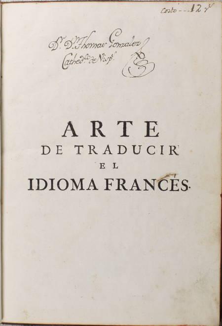 CAPMANY - Arte de traducir - Idioma frances - Lengua castellana - 1776 - Photo 3 - livre ancien