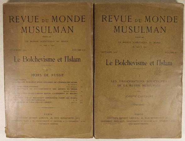 CASTAGNE, NIKITINE, EYQUEM, DUCROCQ, VISME et BOUVAT. Le bolchevisme et l'Islam, livre rare du XXe siècle