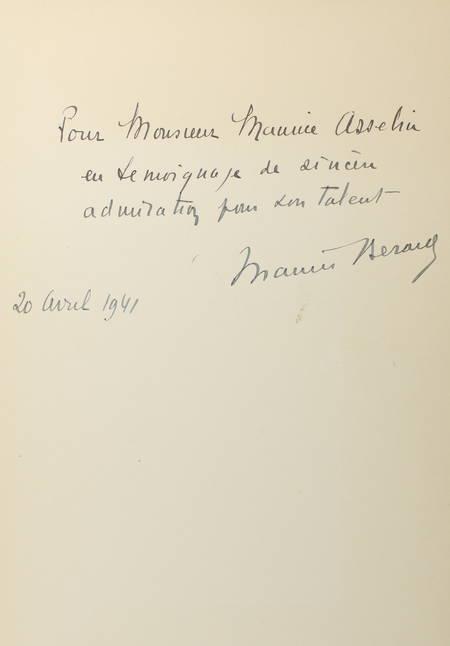 BERARD (Maurice). Renoir à Wargemont
