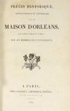 Recueil concernant la maison d Orléans - 1824-1830 - Précis généalogique, etc. - Photo 3, livre rare du XIXe siècle