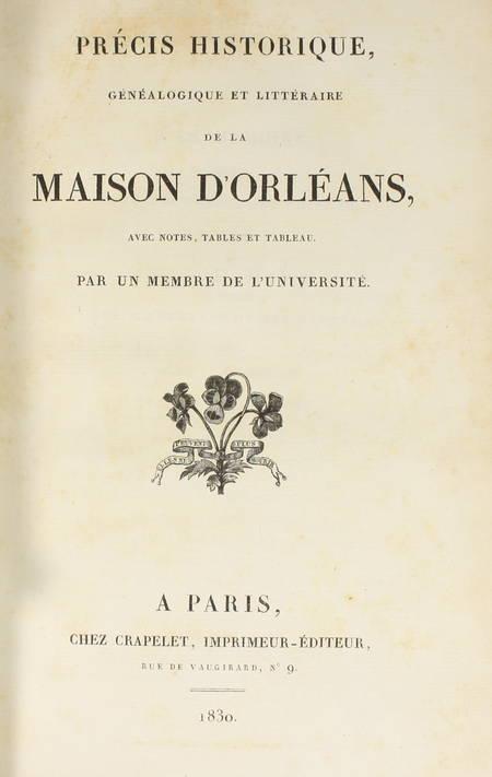 Recueil concernant la maison d'Orléans - 1824-1830 - Précis généalogique, etc. - Photo 3 - livre de bibliophilie