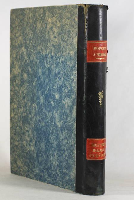 Manuscrits à peintures des bibliothèques Ste Geneviève et Mazarine - 1921-1933 - Photo 0 - livre moderne