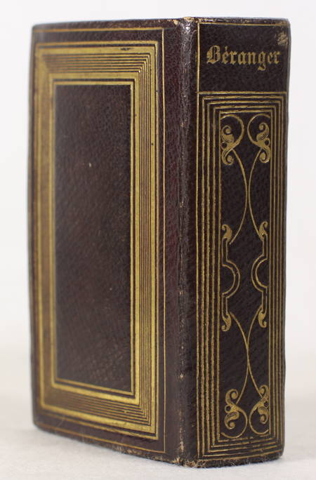 BERANGER (Pierre-Jean de). Oeuvres complètes de P. J. de Béranger. Edition revue par l'auteur, livre rare du XIXe siècle