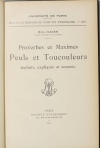GADEN (Henri). Proverbes et maximes peuls et toutcouleurs, traduits, expliqués et annotés