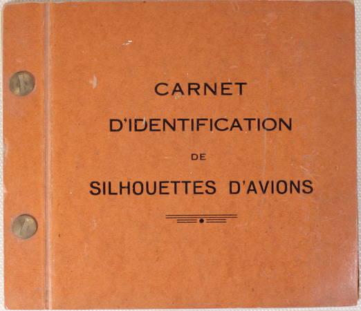 Carnet d'identification de silhouettes d'avions - (vers 1960 ?) - Photo 1 - livre du XXe siècle