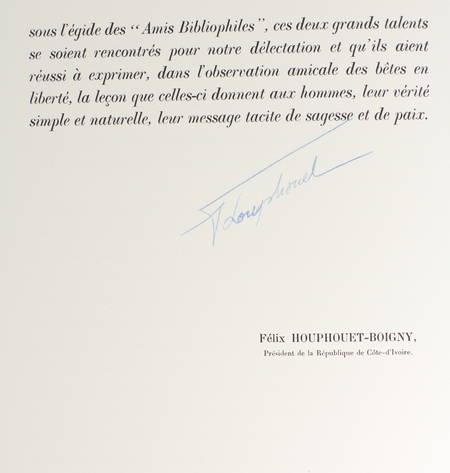 DEMAISON Bêtes sur la terre et dans le ciel 1961 - CAMI - signé Houphouët-Boigny - Photo 2 - livre rare