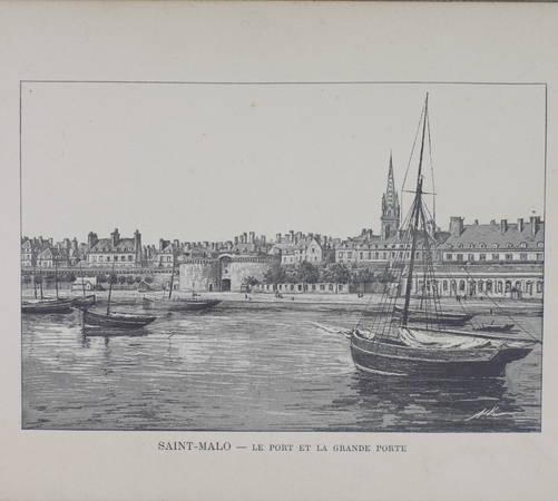 . France Album. Saint-Malo. 16 vues et notice : St-Malo, St-Servan, Dinard, Paramé, livre rare du XXe siècle