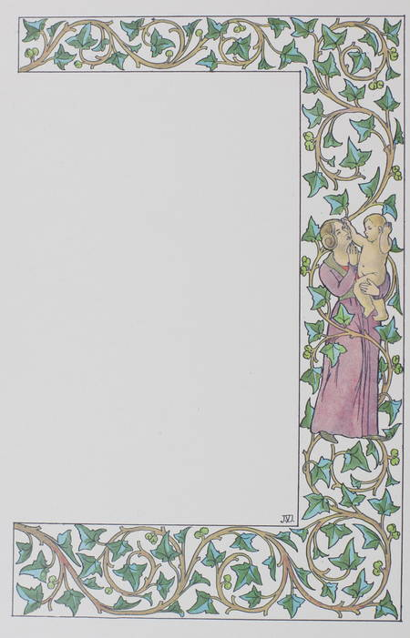. Encadrements XVe siècle extraits du Livret de l'enfant. Collection du Dr Fumouze-Albespeyres, livre rare du XXe siècle