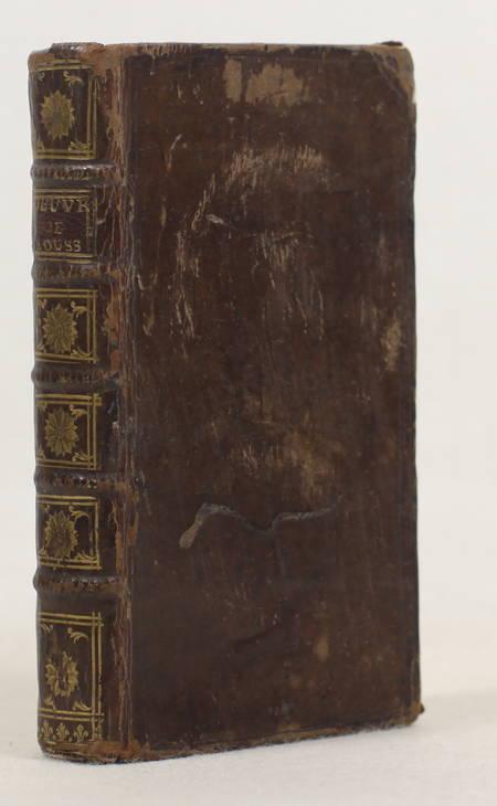 Oeuvres choisies de Jean-Baptiste Rousseau - 1741 + Epitres nouvelles - 1741 - Photo 1 - livre d'occasion