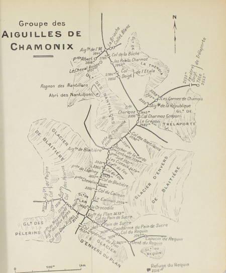 GAILLARD (Emile). Les Alpes de Savoie : Le Massif du Mont blanc (Groupe des aiguilles de Chamonix, du Géant, des Grandes Jorasses et de Talèfre). Guide pour l'alpiniste
