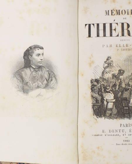 [VALLADON (Emma)] - Les mémoires de Thérésa, écrits par elle même - 1865 - Photo 2 - livre du XIXe siècle