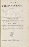 [Chevaux] VALOIS - Cours d hippiatrique - Versailles, 1814 - Photo 0, livre ancien du XIXe siècle