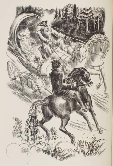 GIONO - Le voyage en calèche - 1947 - Decaris - Reliure signée - Photo 1 - livre de bibliophilie
