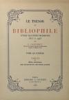 CARTERET (L.). Le trésor du bibliophile. Livres illustrés modernes 1875 à 1945. Tome quatrième : Tables du bilan artistique des soixante-dix dernières années