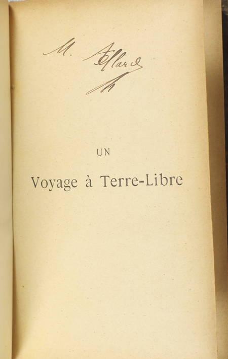 HERTZKA - Un voyage à terre libre. Coup d'oeil sur la société de l'avenir - 1894 - Photo 2 - livre de bibliophilie