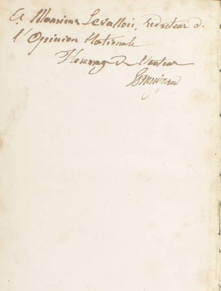 ESMENJAUD curé demissionaire - La lettre tue mais l'esprit vivifie - 1867 Envoi - Photo 0 - livre rare