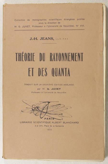 JEANS (J.-H.). Théorie du rayonnement et des quanta