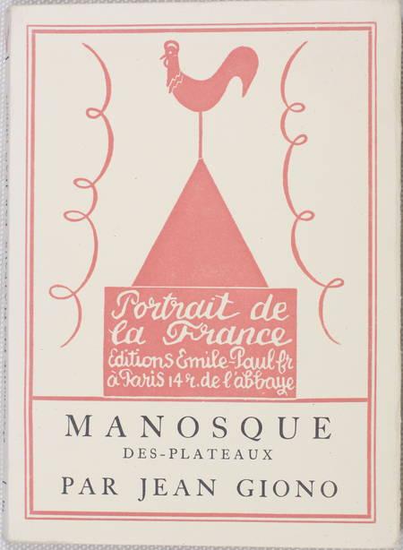 Jean GIONO - Manosque-des-Plateaux - 1930 - EO numéroté sur vélin Lafuma - Photo 1 - livre moderne