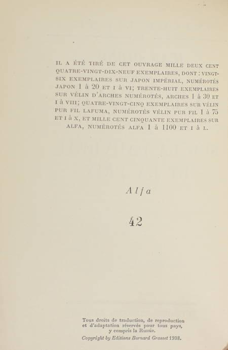 GIONO - Lettre aux paysans sur la pauvreté et la paix - 1938 - EO Alfa - Photo 1 - livre du XXe siècle