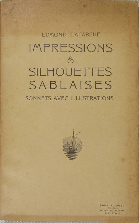 Sables d'Olonne - LAFARGUE - Impressions et silhouettes Sonnets - vers 1930 - Photo 1 - livre de collection