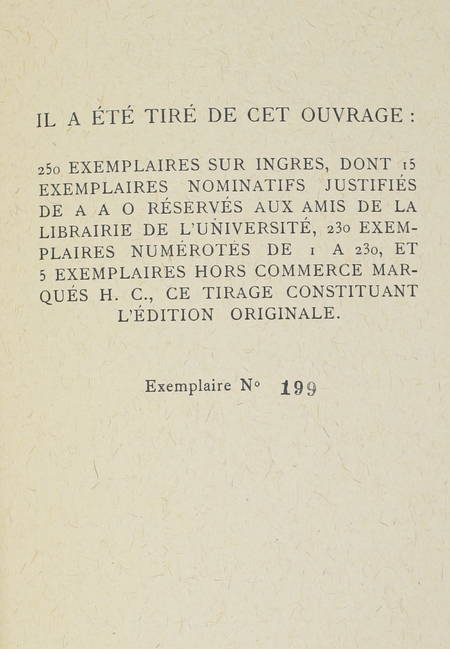 Pierre EMMANUEL - La colombe - 1942 - EO numérotée sur papier Ingres - Photo 0, livre rare du XXe siècle
