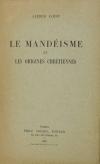 Alfred LOISY - Le mandéisme et les origines chrétiennes - 1934 - Photo 0 - livre du XXe siècle