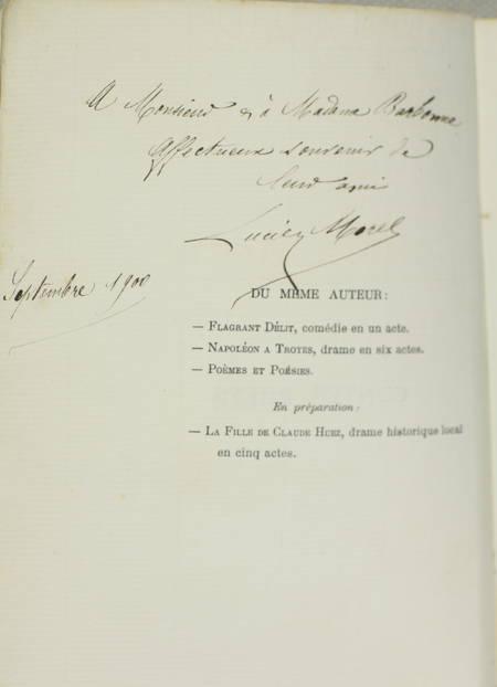 Lucien MOREL - Contes brefs - Troyes, 1900 - Envoi de l'auteur - Photo 0, livre rare du XXe siècle