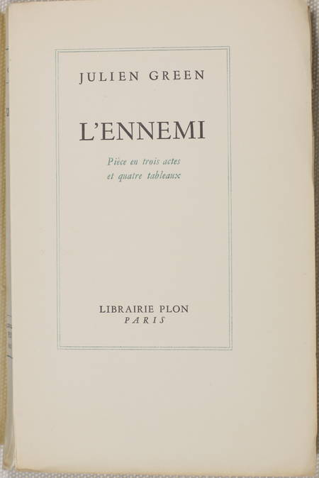 Julien GREEN - L'ennemi 1954 - EO 1/70 Lafuma - Lithographies Daniel Louradour - Photo 2 - livre rare