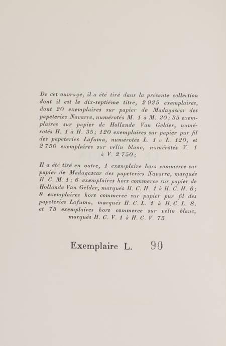 François MAURIAC - Le sagouin - 1951 - EO 1/120 Lafuma - Photo 0 - livre de collection