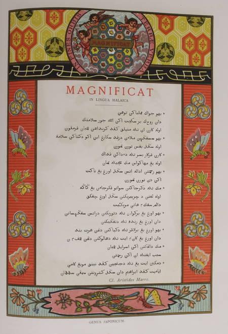 [Typographie] Magnificat en 150 langues - 1887 - Chromolithographie - Photo 0 - livre rare