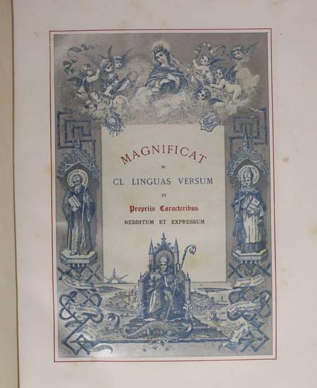 [Typographie] Magnificat en 150 langues - 1887 - Chromolithographie - Photo 4 - livre rare