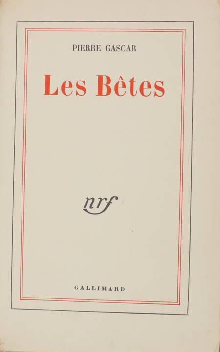 Pierre GASCAR - Les bêtes - 1953 - Service de presse - Photo 0 - livre moderne