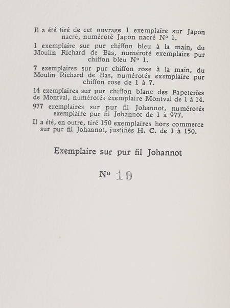 JOUHANDEAU (Marcel). Léonora ou les dangers de la vertu vertu, livre rare du XXe siècle