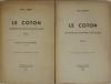SENAY - Le coton sa production et sa distribution dans le monde 1937 - 2 volumes - Photo 1, livre rare du XXe siècle