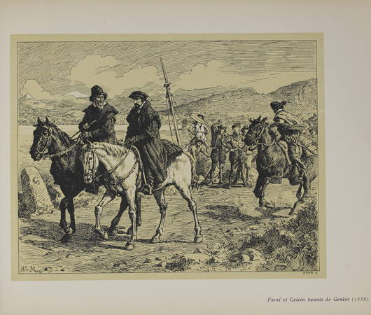 DENKINGER (H.). Jubilé de 1909. Jean Calvin. 1509-1564. Douze estampes de H. Van Muyden