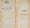 Fables, par J. M. F. Auguste Duvivier - 1843 - Photo 0 - livre du XIXe siècle