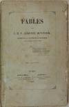 Fables, par J. M. F. Auguste Duvivier - 1843 - Photo 1, livre rare du XIXe siècle