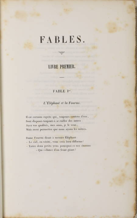 Fables, par J. M. F. Auguste Duvivier - 1843 - Photo 2 - livre de bibliophilie