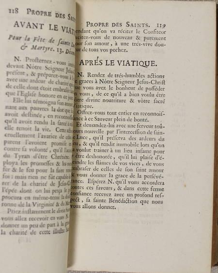 Essais d'exhortations ... administration du très-saint viatique - Toulouse 1718 - Photo 2 - livre d'occasion
