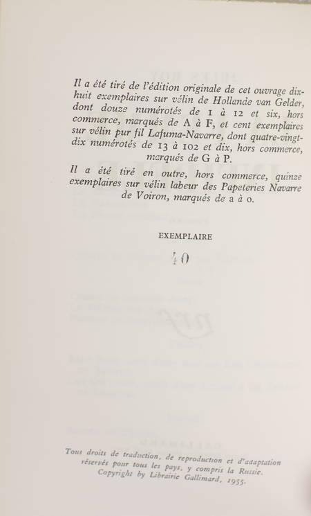 Jules ROY - La femme infidèle - 1955 -EO - 1/100 vélin pur fil - Photo 0 - livre rare