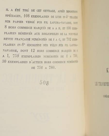 ROMAINS - Knock + M. Le Trouhadec - 1924 - Théâtre - EO Réimposé - Vélin pur fil - Photo 1 - livre du XXe siècle