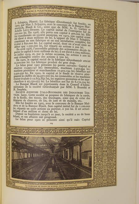 BOAMBA (I.). Banque Marmorosch, Blank & Co. Société anonyme. 1848-1923