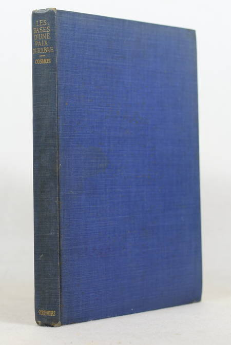 COSMOS - Les bases d'une paix durable - New-York, 1917 - Photo 0 - livre de bibliophilie