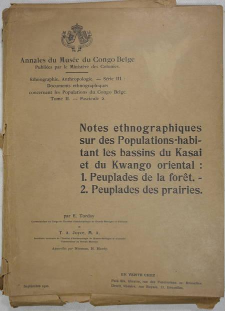 TORDAY Ethnographie sur des populations du Kasai et du Kwango oriental - 1922 - Photo 1 - livre rare