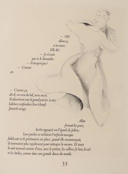 RAMUZ - Aline - 1945 - 19 pointes sèches de Pierre Vienot - Photo 0 - livre de bibliophilie